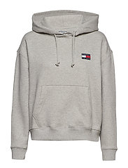 TJW TOMMY BADGE HOOD - LT GREY HTR