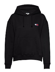 TJW TOMMY BADGE HOOD - TOMMY BLACK