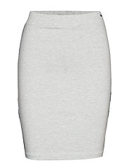 TJW PIPING BODYCON S - PALE GREY HEATHER