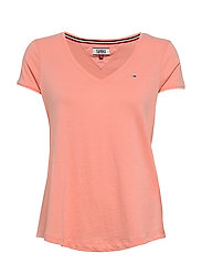 TJW SOFT JERSEY V-NECK TEE - PINK ICING