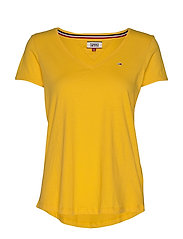 TJW SOFT JERSEY V-NECK TEE - SPECTRA YELLOW