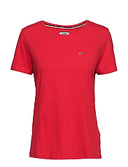 TJW SOFT JERSEY TEE - FLAME SCARLET