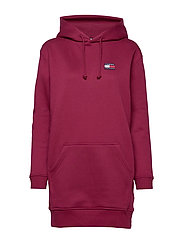TJW TOMMY BADGE HOODIE DRESS - RHODODENDRON