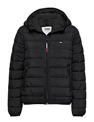 TJW QUILTED TAPE DETAIL JACKET - TOMMY BLACK