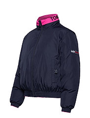 Tommy Jeans - TJW REVERSIBLE LOGO DOWN BOMBER - padded jackets - black iris - 9