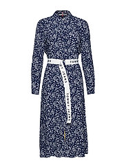 TJW PRINT MIX SHIRT DRESS - SCATTERED FLORAL / BLUE DEPTHS