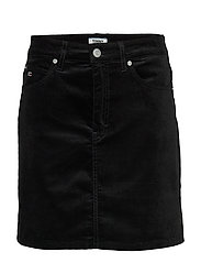 TJW SHORT VELVET SKIRT - TOMMY BLACK