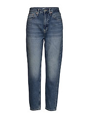 MOM JEAN HIGH RISE TAPERED SNDM - SUNDAY MID BL RIG