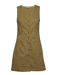TJW DUNGAREE DRESS - MARTINI OLIVE