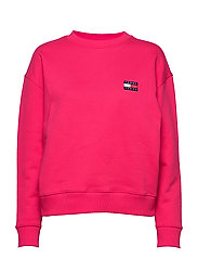 TJW TOMMY BADGE CREW - BLUSH RED