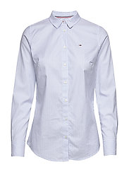 TJW SLIM FIT STRETCH - WHITE / MODERATE BLUE