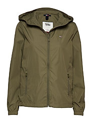 TJW CHEST LOGO WINDBREAKER - OLIVE TREE