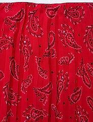 Tommy Jeans - TJW PLEATED MIDI SKIRT - midi skirts - paisley print / deep crimson - 3