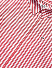 Tommy Jeans - TJW STRIPED FRILL SLEEVE BLOUSE - overhemden met korte mouwen - deep crimson / white - 2