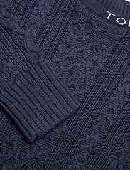 Tommy Jeans - TJW BRANDED NECK CABLE SWEATER - tröjor - twilight navy - 2