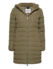 TJW QUILTED DOWN COAT - OLIVE TREE