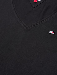 Tommy Jeans - TJW JERSEY V NECK LONGSLEEVE - long-sleeved tops - black - 2