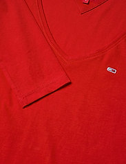 Tommy Jeans - TJW JERSEY V NECK LONGSLEEVE - long-sleeved tops - deep crimson - 2