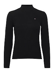 TJW RIB MOCK NECK LONGSLEEVE - BLACK