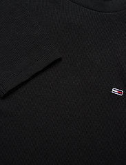 Tommy Jeans - TJW RIB MOCK NECK LONGSLEEVE - long-sleeved tops - black - 2