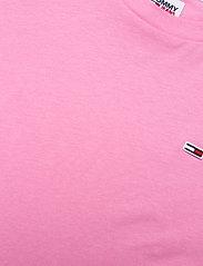 Tommy Jeans - TJW REGULAR JERSEY C NECK - t-shirts - pink daisy - 2