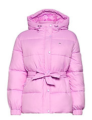 TJW BELTED PUFFER - FRESH ORCHID