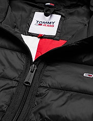 Tommy Jeans - TJW QUILTED TAPE HOODED JACKET - winter jackets - black - 5