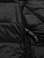 Tommy Jeans - TJW QUILTED TAPE HOODED JACKET - winter jackets - black - 6
