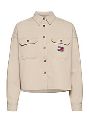 TJW CROPPED UTILITY SHIRT - SUGARCANE