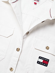 Tommy Jeans - TJW CROPPED UTILITY SHIRT - kläder - white - 2