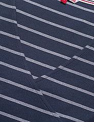 Tommy Jeans - TJW STRIPED WRAP TOP - crop tops - twilight navy / white stripe - 2