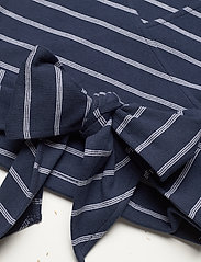 Tommy Jeans - TJW STRIPED WRAP TOP - crop tops - twilight navy / white stripe - 3