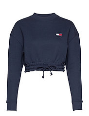 TJW SUPER CROPPED BADGE CREW - TWILIGHT NAVY