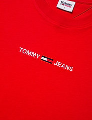 Tommy Jeans - TJW BXY CROP LINEAR LOGO TEE - crop tops - deep crimson - 2