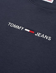 Tommy Jeans - TJW BXY CROP LINEAR LOGO TEE - crop tops - twilight navy - 2