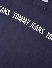 Tommy Jeans - TJW BXY CROP TAPE SS TEE - crop tops - twilight navy - 2