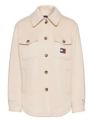 TJW FRONT POCKET BADGE SHACKET - SUGARCANE