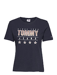 TJW  SLIM METALLIC TOMMY TEE - TWILIGHT NAVY
