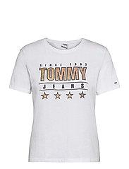 TJW  SLIM METALLIC TOMMY TEE - WHITE