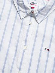 Tommy Jeans - TJW SLIM OXFORD STRIPE SHIRT - långärmade toppar - moderate blue / white - 2