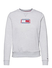 TJW BXY TIMELESS FLAG SWEATSHIRT - SILVER GREY HTR