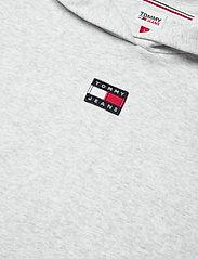 Tommy Jeans - TJW LONGLINE HOODIE BADGE DRESS - summer dresses - silver grey htr - 4