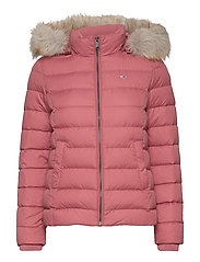 TJW BASIC HOODED DOWN JACKET - WITHERED ROSE