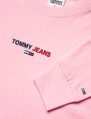 Tommy Jeans - TJW LINEAR LOGO LONGSLEEVE - crop tops - romantic pink - 2