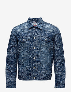 THDM TOMMY JACQUARD DENIM TRUCKER - TOMMY JACQUARD DENIM