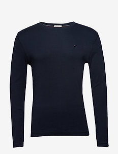 TJM ORIGINAL RIB LONGSLEEVE TEE - basic t-shirts - black iris