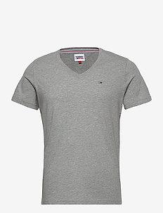 TJM ORIGINAL JERSEY V NECK TEE - basis-t-skjorter - lt grey htr