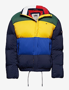 TJM OVERSIZE COLOR DOWN JACKET - BLACK IRIS / MULTI