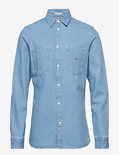 TJM DENIM POCKET SHIRT - MID INDIGO