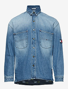 TJM DENIM OVERSHIRT, - PARK LIGHT BL RIG